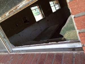 another broken window
